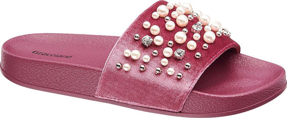 Graceland Módní pantofle  červená