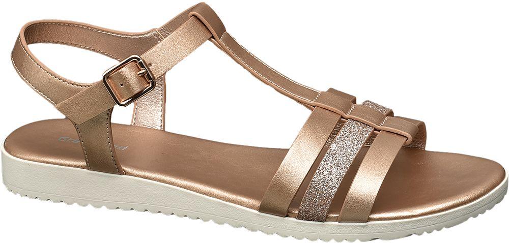 Graceland Metalické sandály  růžovozlatá
