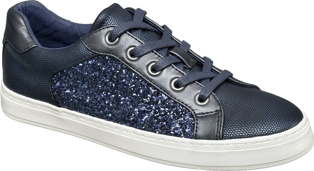 Deichmann - Ellie Star Collection Metalické tenisky 39 modrá