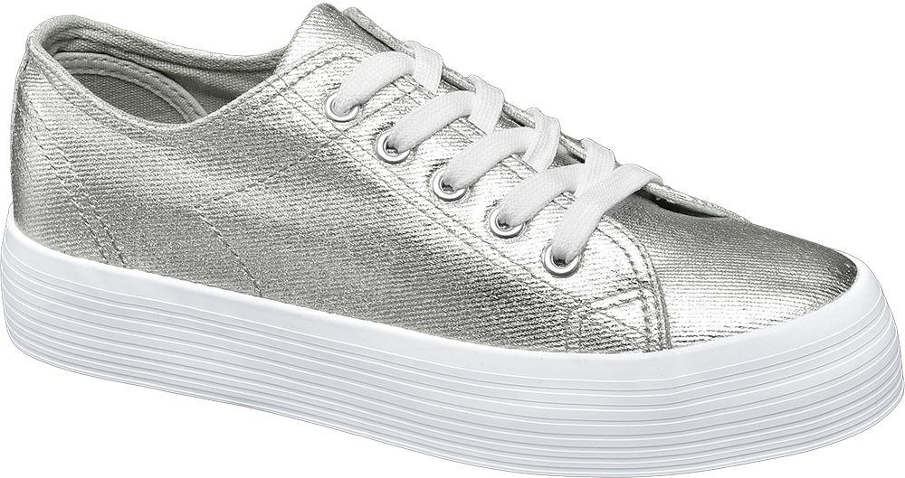 Deichmann - Vty Metalické tenisky 39 stříbrná