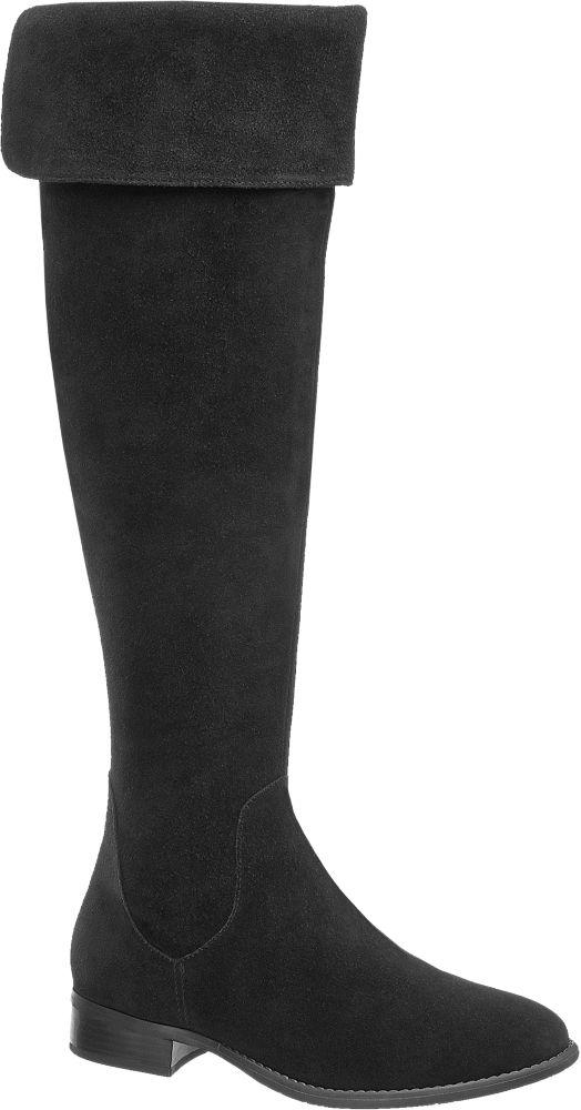 kozaki za kolano 5th Avenue czarne