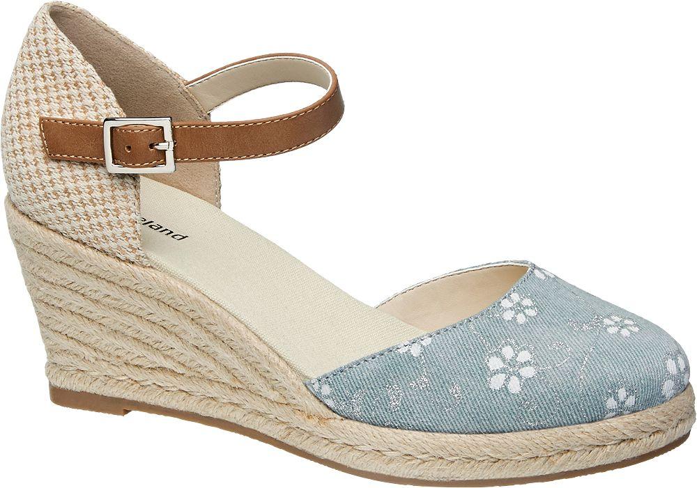 sandały damskie na koturnie - 1164282