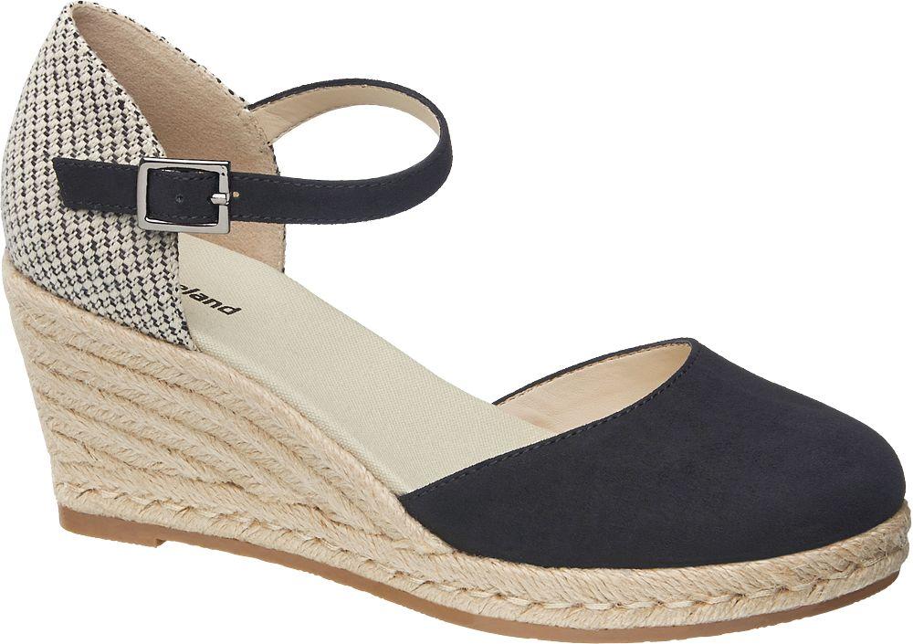 Sandały na koturnie Graceland czarne