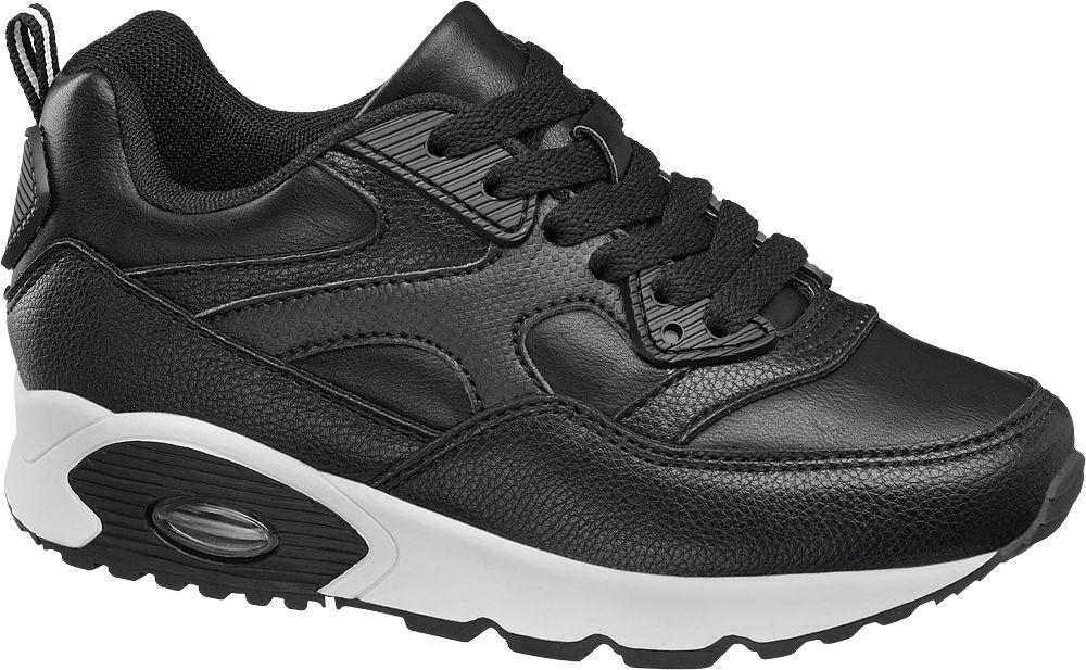 sportowe buty dziecięce Graceland czarno białe