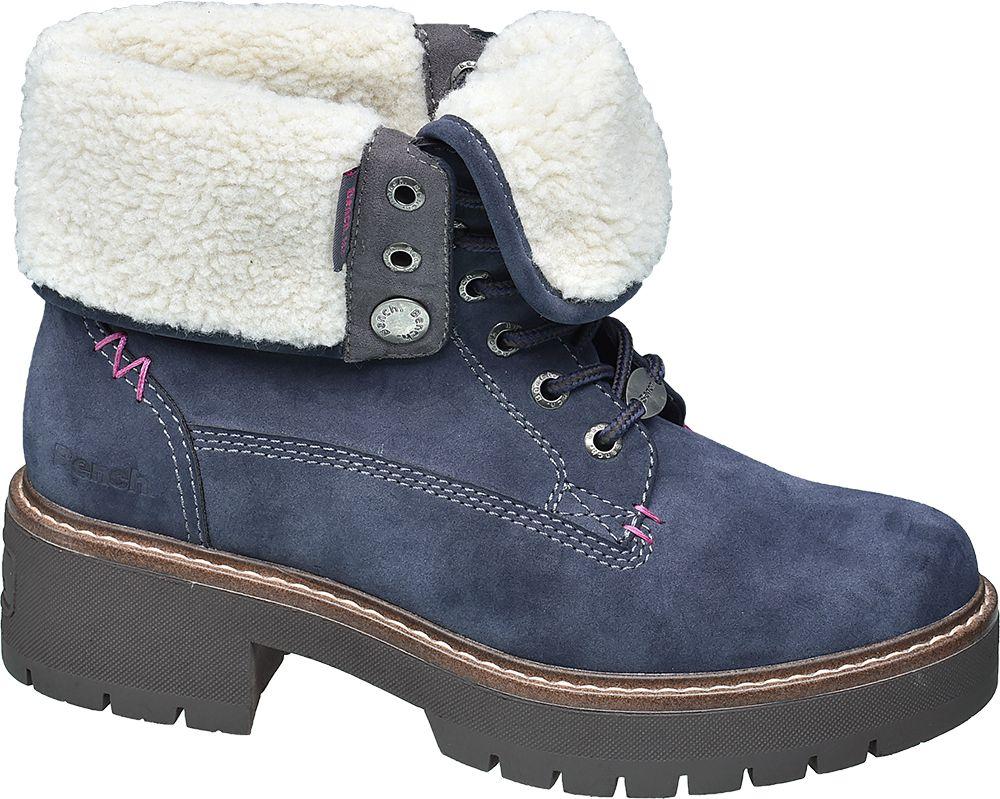 Bench - Modrá šnurovacia obuv Bench