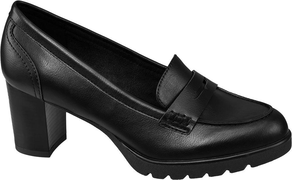 Graceland Mokasíny na podpatku  černá