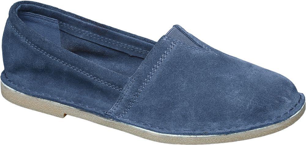 Buty damskie typu slip on 5th Avenue niebieskie