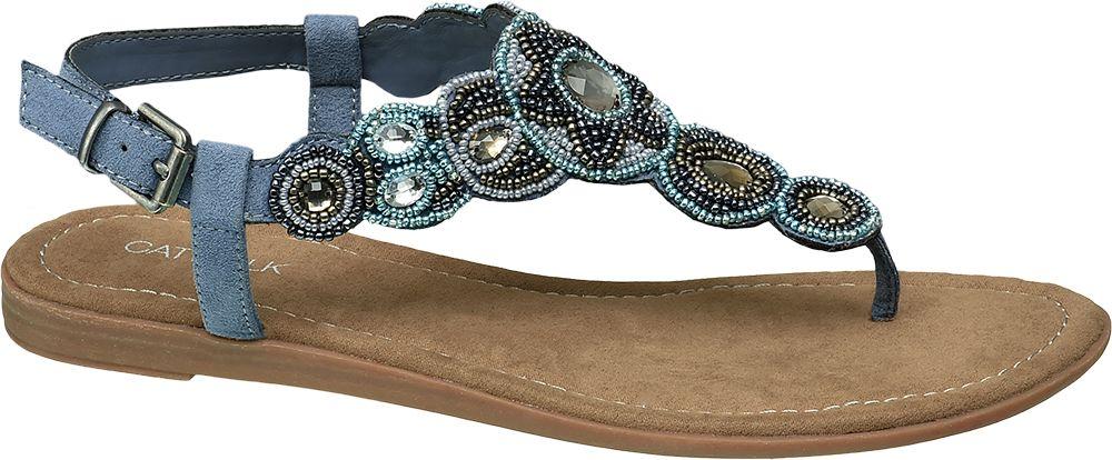 Sandały damskie Catwalk niebieskie