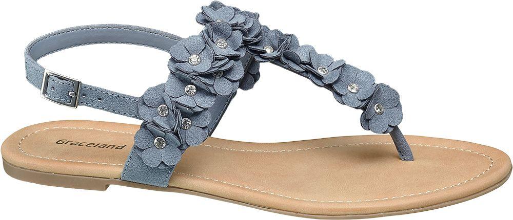 Sandały damskie Graceland niebieskie