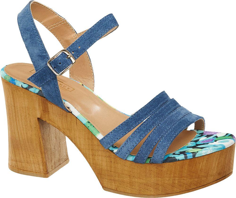 Sandały damskie 5th Avenue niebieskie