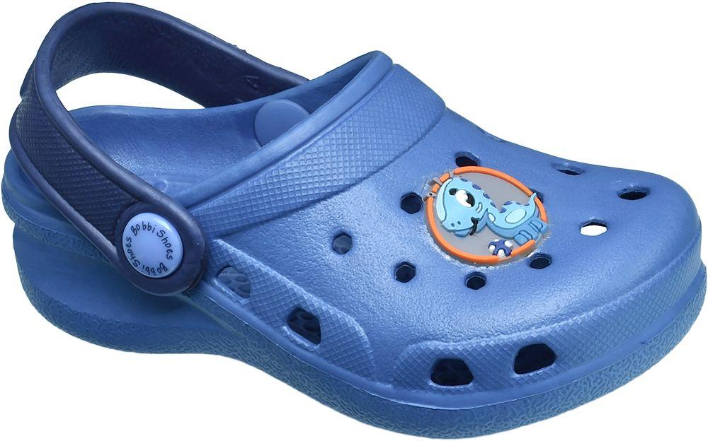 Klapki dziecięce Bobbi-Shoes niebieskie