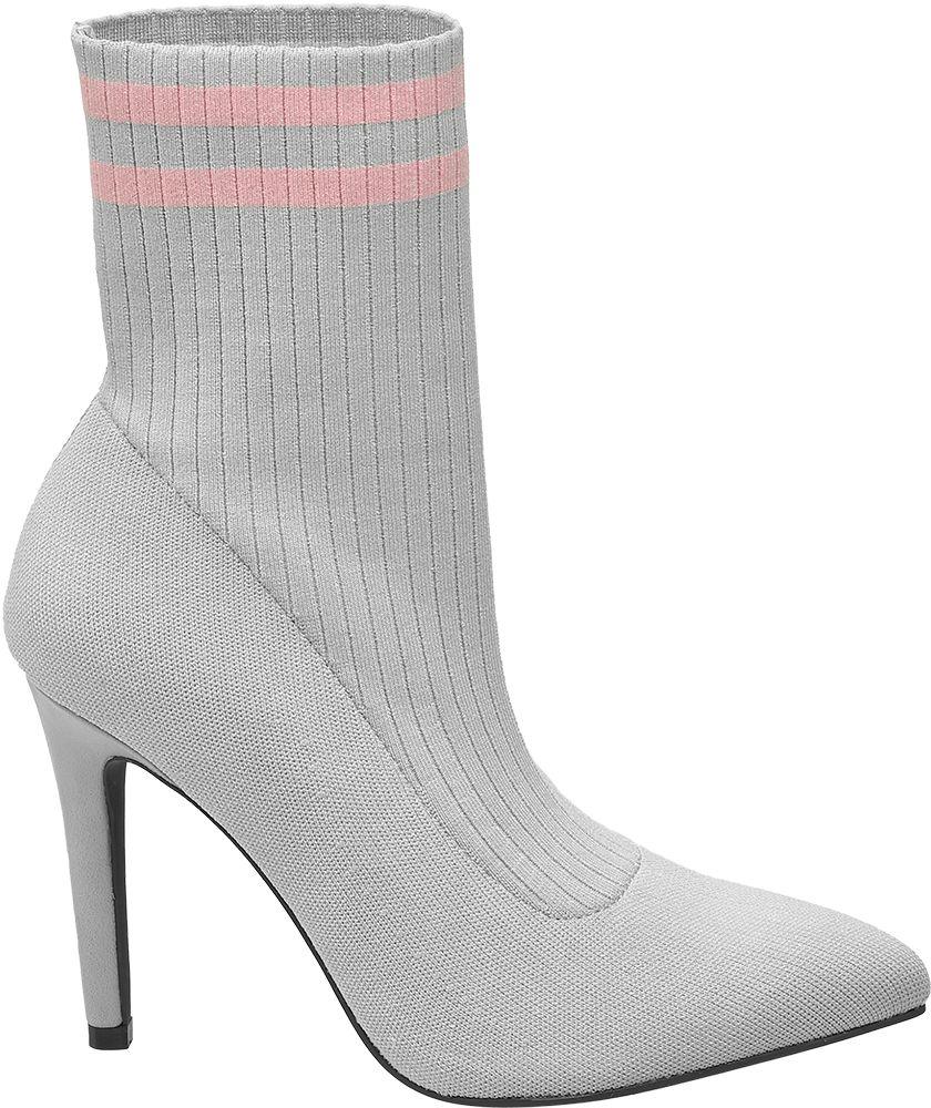 51e9da86af1 Deichmann - Catwalk Nízké ponožkové kozačky 36 šedá