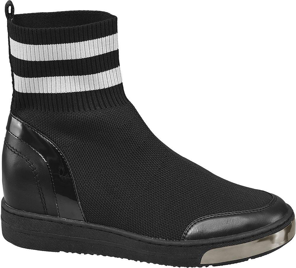 31d9b7c8db4a Deichmann - Graceland Nízké ponožkové kozačky 37 černá