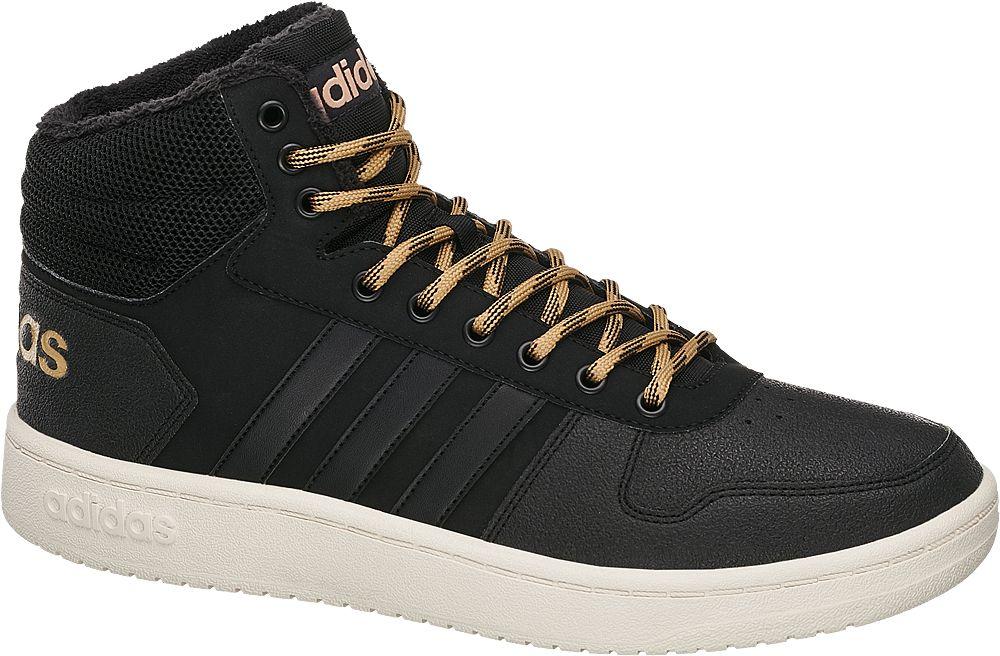 sneakersy męskie adidas Hoops 2.0 Mid Wtr adidas czarne