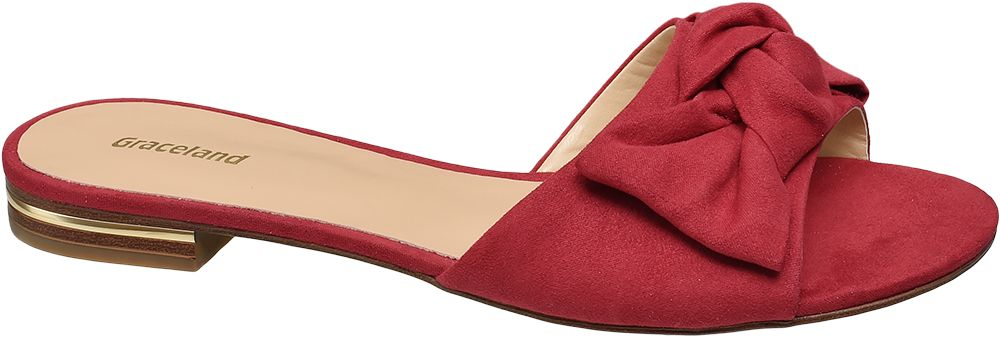 Graceland Pantofle s mašlí  červená