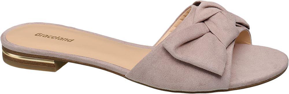 Graceland Pantofle s mašlí  růžová