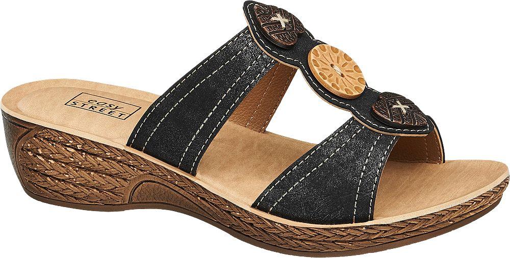 Deichmann - Easy Street Pantofle 41 černá