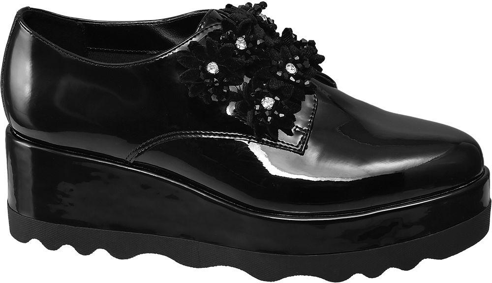 Graceland Polobotky na platformě  černá