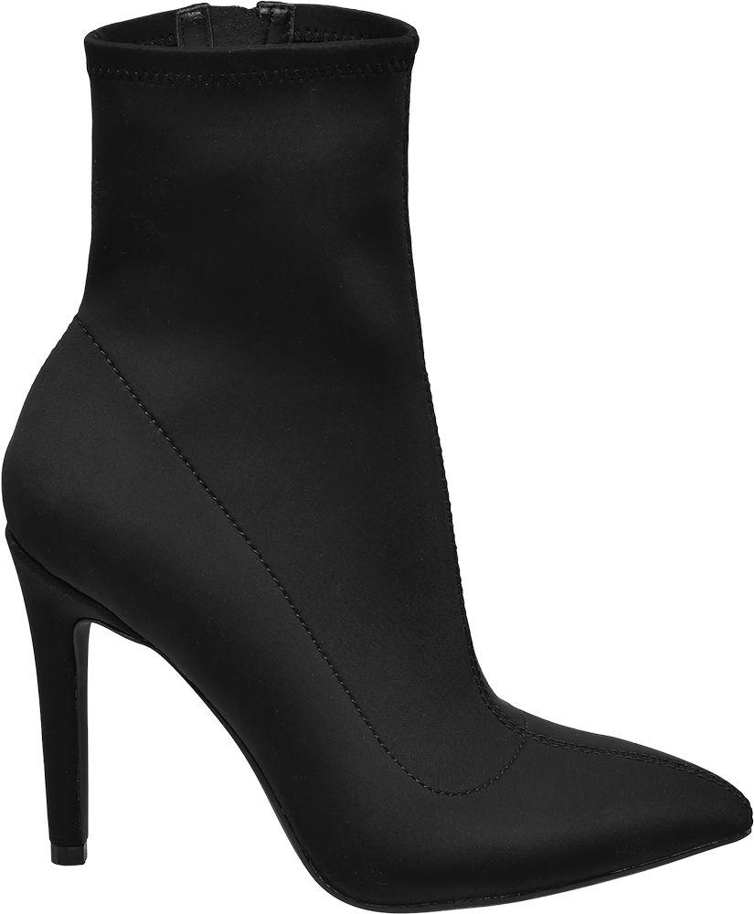 Catwalk Ponožkové kozačky  černá