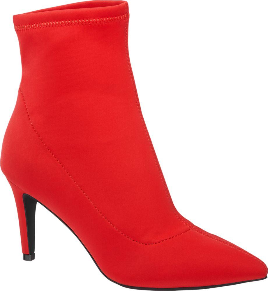 Graceland Ponožkové kozačky  červená