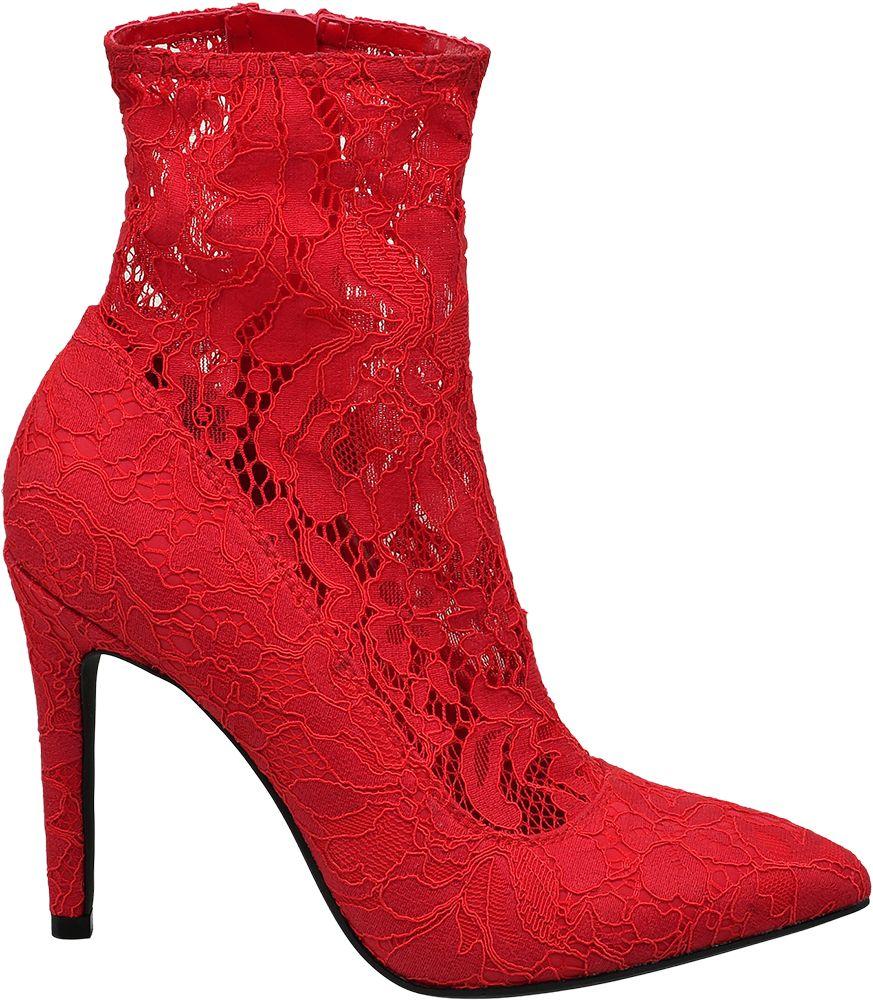 Catwalk Ponožkové lodičky  červená
