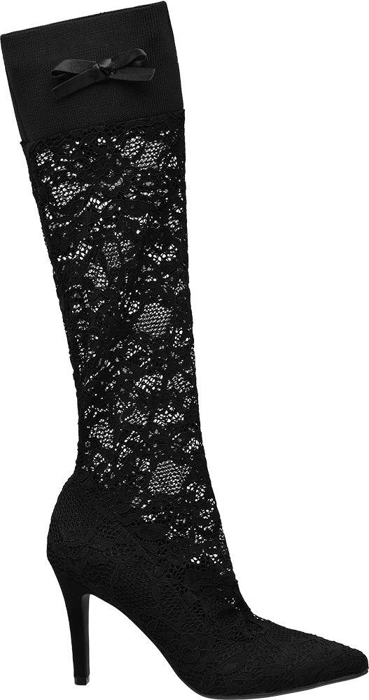 Graceland Ponožkové lodičky  černá
