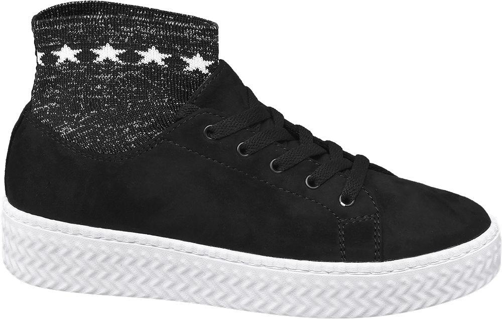 Deichmann - Graceland Ponožkové tenisky 41 černá a5eacd393a