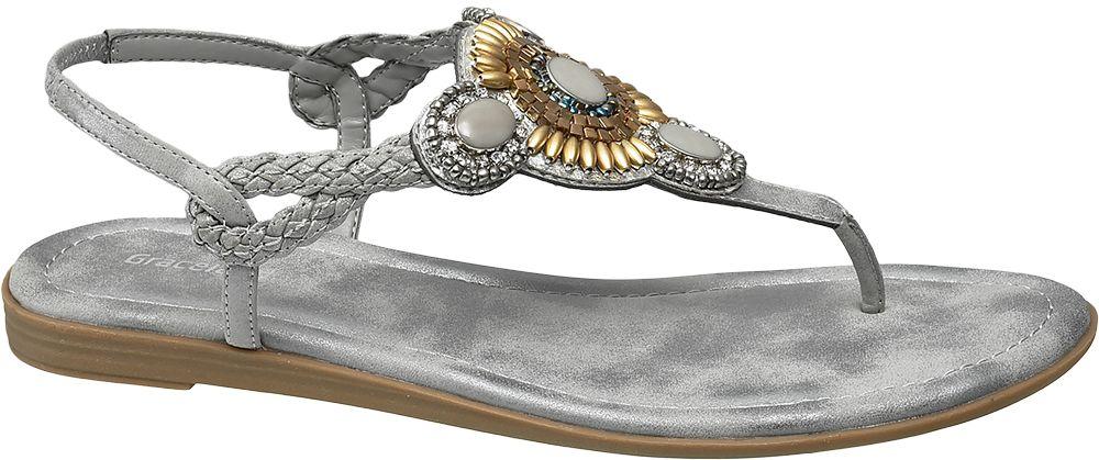 Sandały damskie Graceland popielate