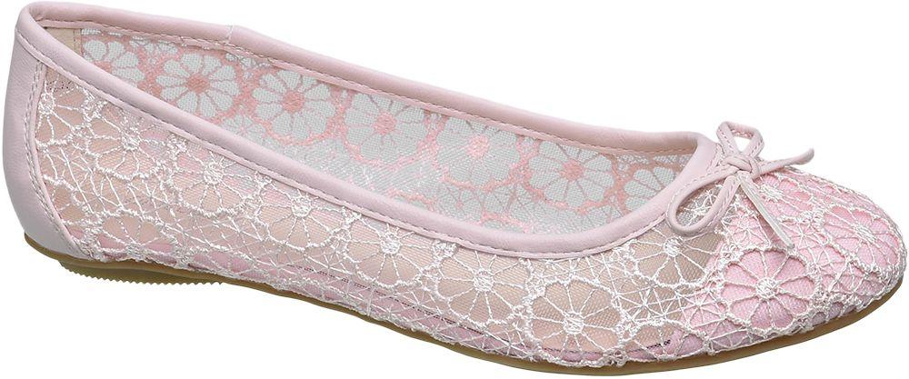 Baleriny damskie Graceland różowe