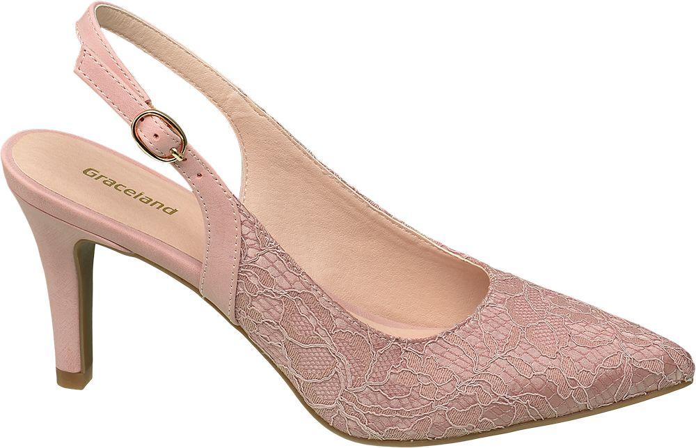 Czółenka damskie Graceland różowe