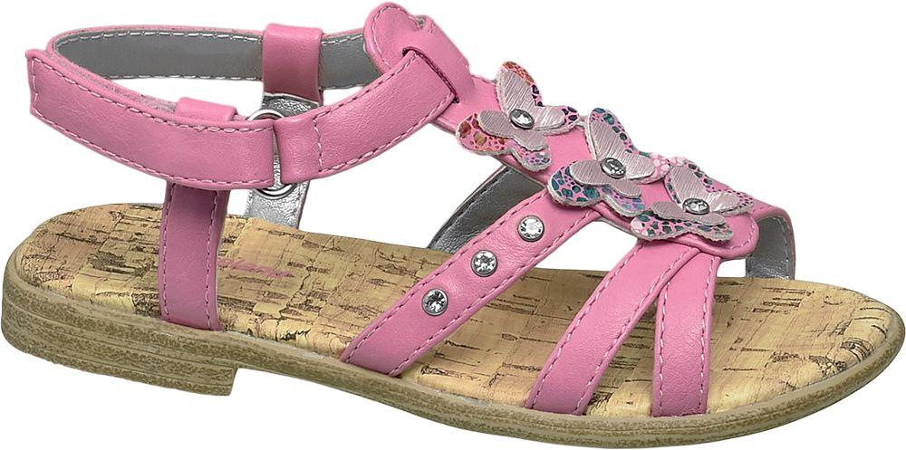 klapki i sandały, klapki i sandały sandały dziecięce cupcake couture różowe - cupcake couture