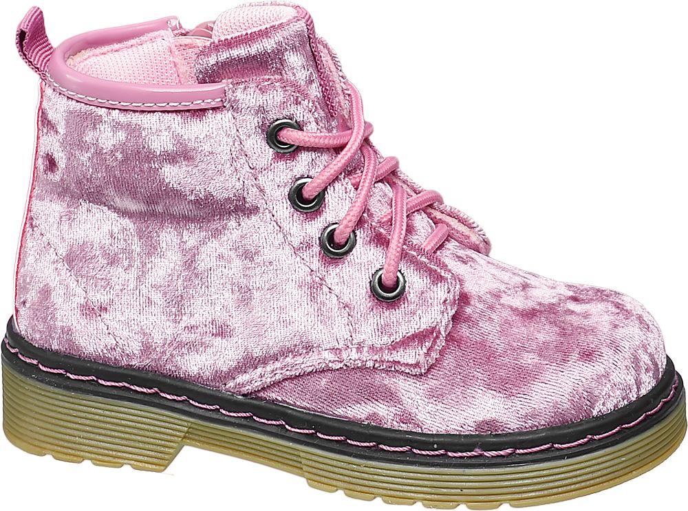 Deichmann - Cupcake Couture Sametová dívčí šněrovací obuv 23 růžová