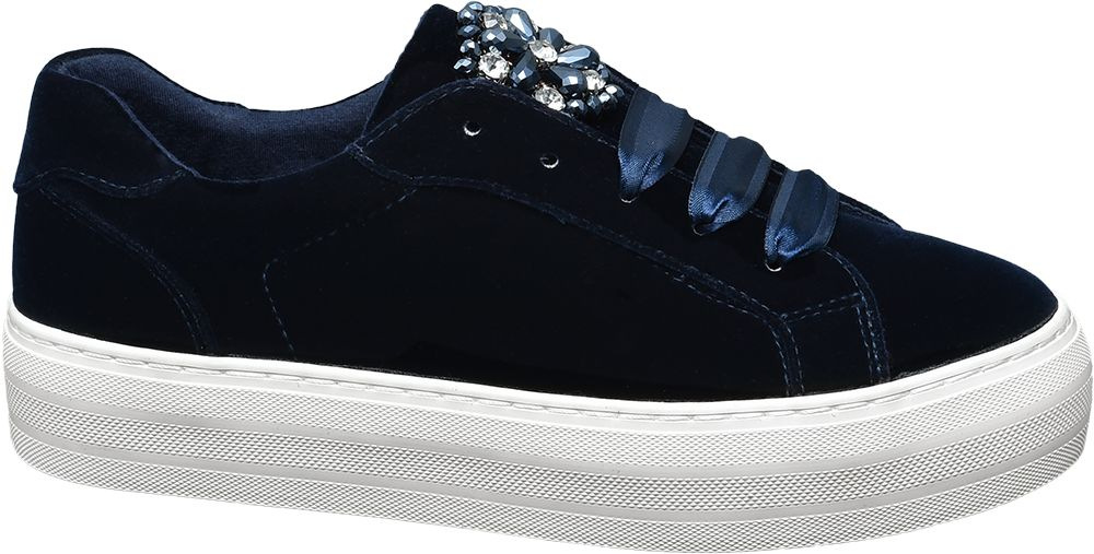 Deichmann - Graceland Sametové tenisky 36 modrá
