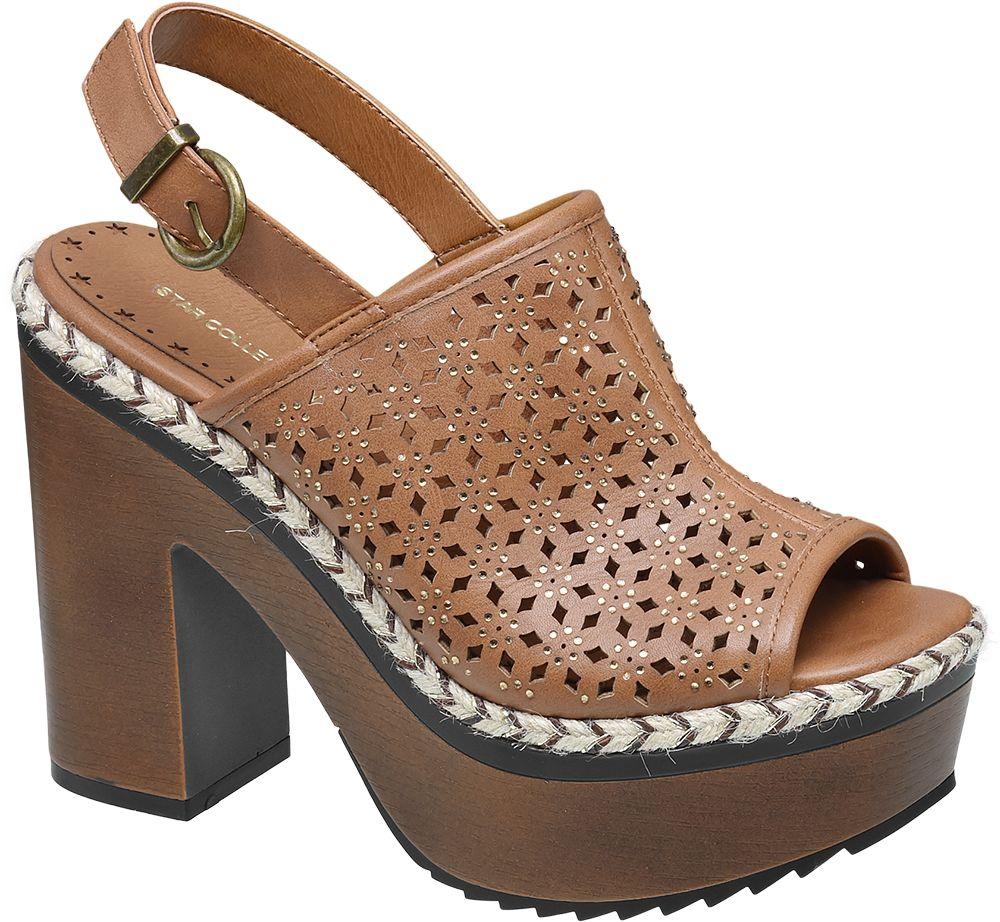 Deichmann - Ellie Star Collection Sandály na platformě 38 hnědá