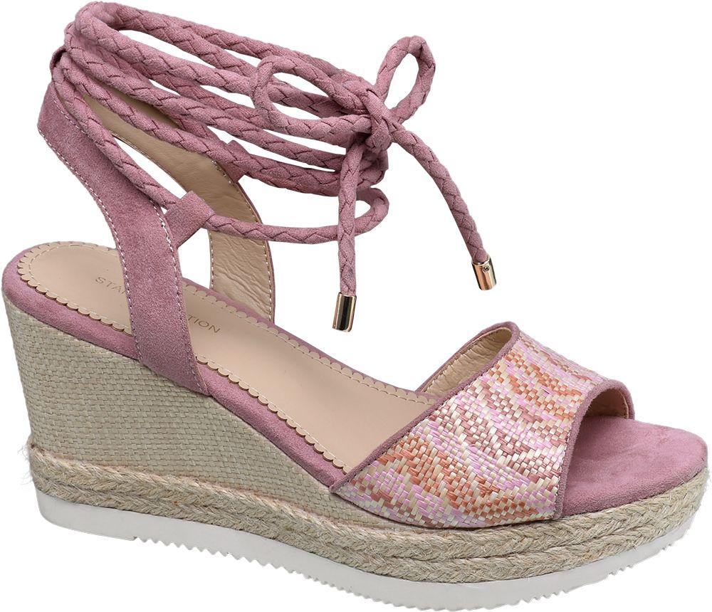 Deichmann - Ellie Star Collection Sandály na platformě 36 růžová