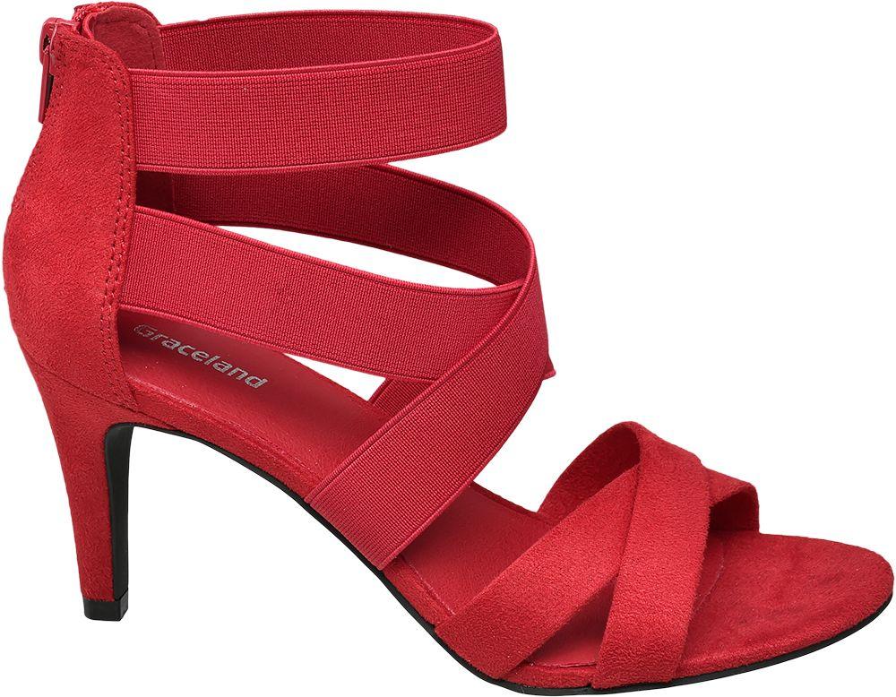 6afb1d7411 Deichmann - Graceland Sandály na podpatku 42 červená