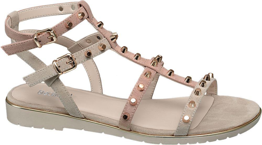 Graceland Sandály s nýty  béžová