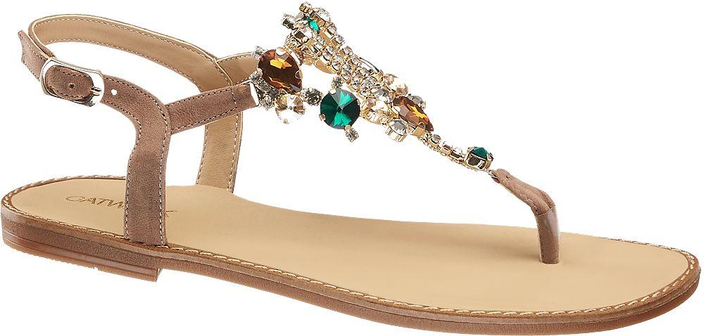 Catwalk Sandály  šedobéžová