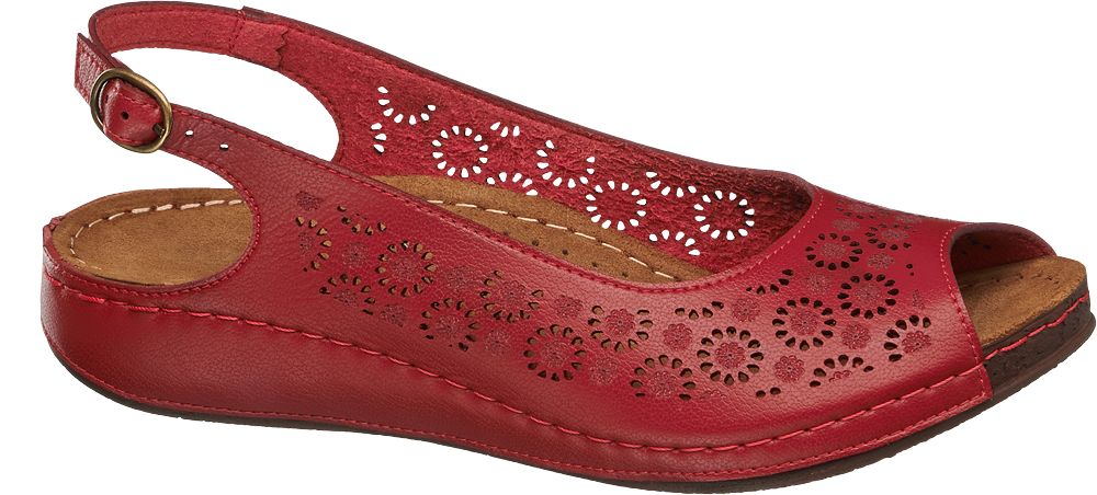 Easy Street Sandály  červená