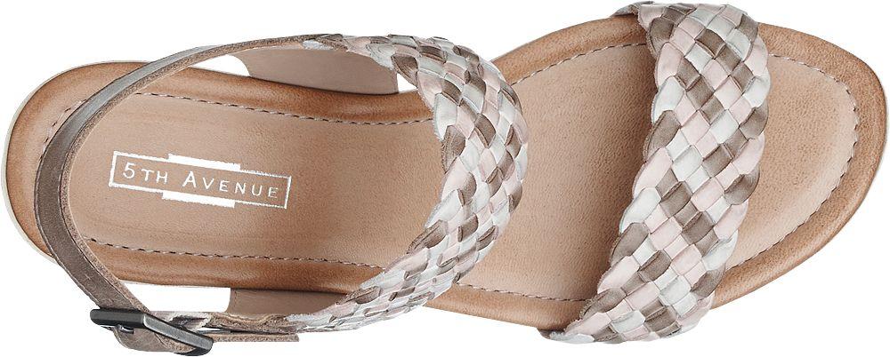 5th Avenue Sandály  šedobílá