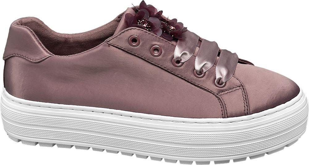 eebbdcbabc Graceland Saténové tenisky na platformě fialová - Akční cena ...