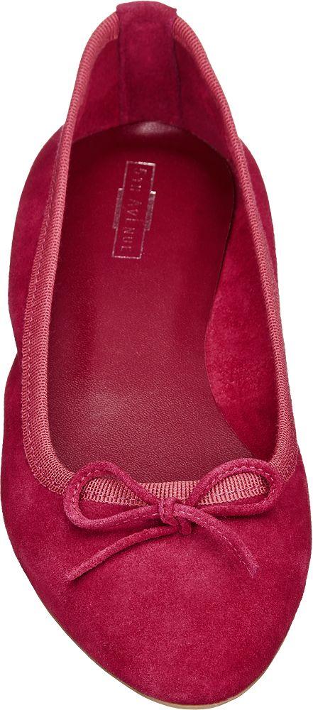 5th Avenue Semišové baleríny  vínově červená