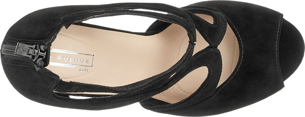 5th Avenue Semišové sandály  černá