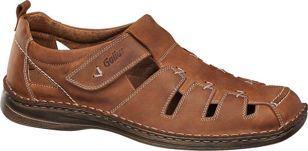 sandały męskie Gallus brązowe