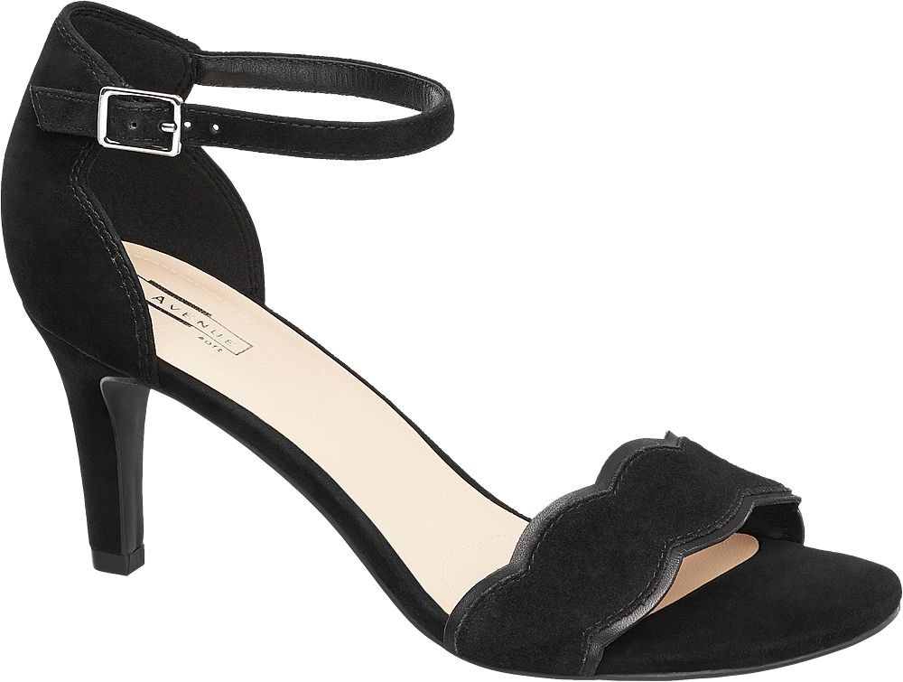 Sandały na obcasie 5th Avenue czarne