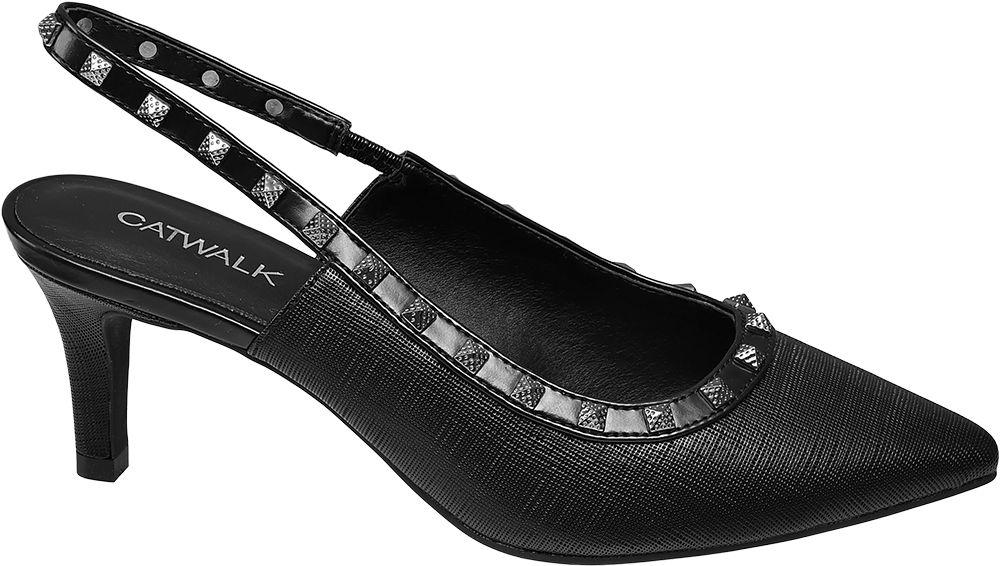 Deichmann - Catwalk Slingback lodičky 38 černá 350a43041e