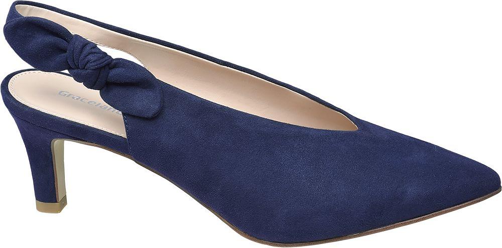 Deichmann - Graceland Slingback lodičky 41 modrá e8a9cf712e