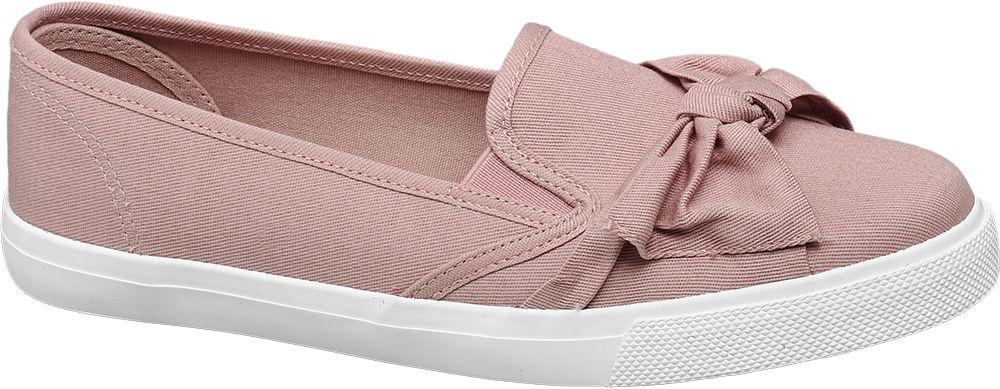 Vty Slip-on obuv s mašlí  růžová