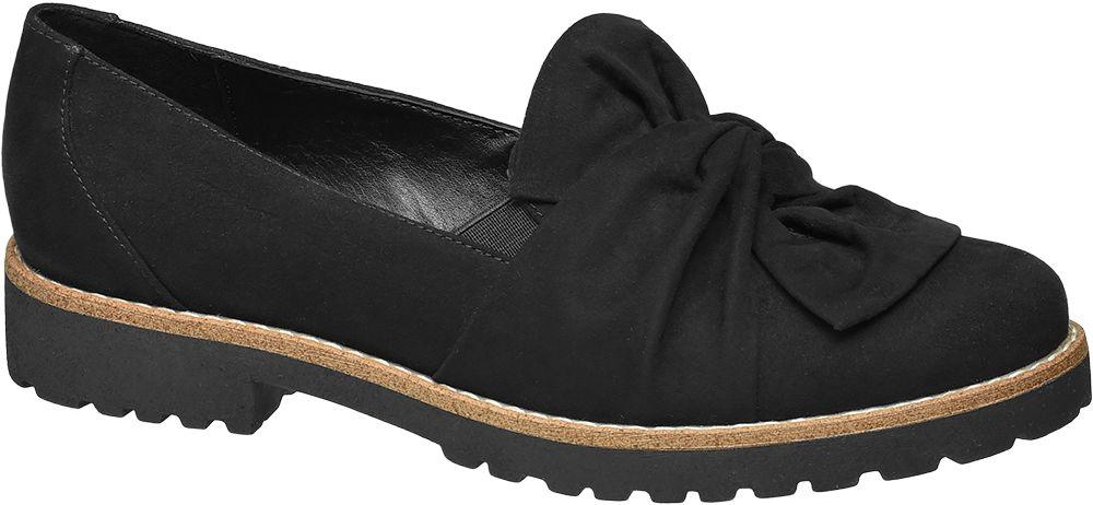 Graceland Slip-on obuv s mašlí  černá