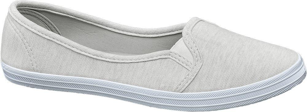 Casa mia Slip-on obuv  šedá